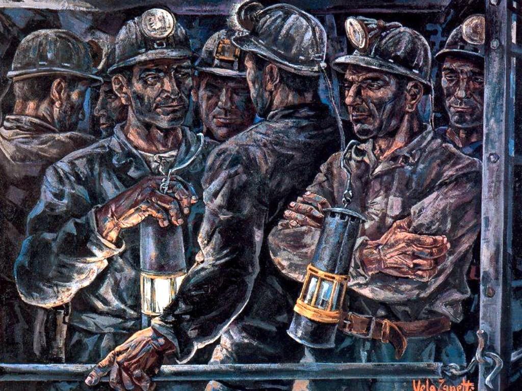 Resultado de imagen de imagenes de cuadros de mineros