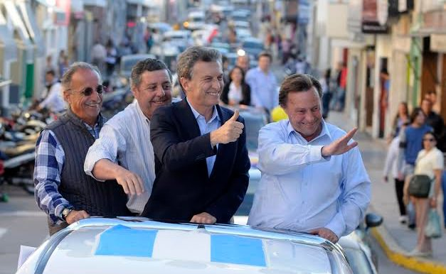 Macri y Varisco en la camioneta del narco